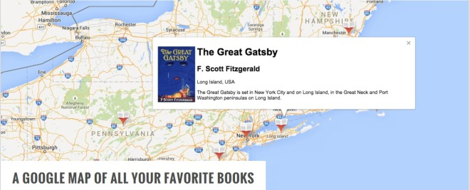 » A Google Map of All Your Favorite Books